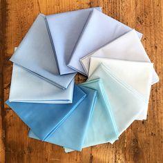 Colour of the Month Club Kona Cotton Solids bundle in light blue