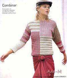 Джемпер, свитер женский крючком | Записи в рубрике Джемпер, свитер женский крючком | Рукоделие