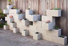 Image result for cement brick garden art