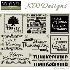 DIGITAL DOWNLOAD ... in AI, EPS, GSD, & SVG formats @ My Vinyl Designer #thanksgivingdesigns