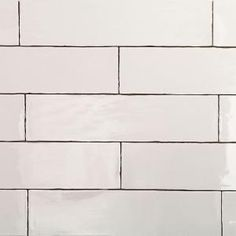 Splashback Tile Catalina White 3 in. x 12 in. x 8 mm Ceramic Floor and Wall Subway Tile Tiles Per - The Home Depot Splashback Tiles, Subway Tile Backsplash, Banners, Black Appliances, Kitchen Appliances, Ceramic Subway Tile, Feature Tiles, Black Kitchens, Ideas