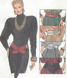 1980s Womens Belts 5 Different Belts for Waist or Hips Wide