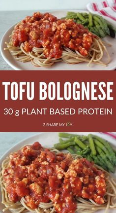 Tofu bolognese recipe that is plant based vegan and contains 30g plant based protein. It is also high in calcium, iron, zinc, and magnesium. High Protein Vegan Recipes, Tofu Recipes, Whole Food Recipes, Cooking Recipes, Cooking Videos, Vegan Foods, Pasta Recipes, Vegetarian Recipes