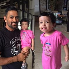 Dhoni poses with daughter Ziva and the picture is too cute for words! Ziva Dhoni, History Of Cricket, World Cricket, Ms Dhoni Wife, Dhoni Quotes, Dhoni Wallpapers, Daddys Princess, Lifestyle Sports