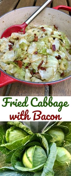 Fried Cabbage with Bacon - One Hundred Dollars a Month