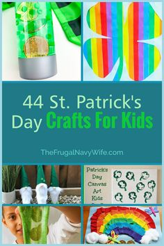 Festive and hands-on activities for kids this St. Patricks day. Here you will find 44 of the best St Patrick's day crafts for kids. #frugalnavywife #stpatricksday #craftsforkids #easycrafts #stparticksdaycrafts #rainbowcrafts #leprechauncrafts | St. Patricks Day Crafts for Kids | Easy Crafts for Kids | Rainbow Craft Ideas | Leprechaun Crafts | St. Patrick's Day Ideas St Patricks Day Crafts For Kids, St Patrick's Day Crafts, Easy Crafts For Kids, Fun Crafts, Art For Kids, Amazing Crafts, Kids Fun, Diy Christmas Gifts, Holiday Crafts
