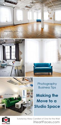 Photography Business Tips:  Making the Move into a New Photography Studio Space by Hilary Camilleri for iHeartFaces.com #iheartfaces #photography
