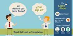 Don't get lost for the need of translation, find lessons to help you master the #englishlanguage!  Start here: http://lingojingo.com/
