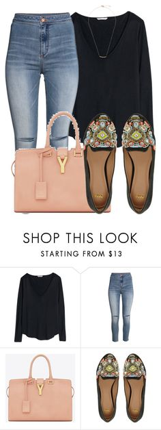 """niq"" by aiyana-xo ❤ liked on Polyvore featuring H&M, Yves Saint Laurent and ASOS"
