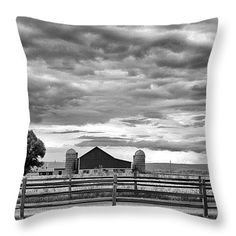 """Clouds Over the Upper Midwest 14"""" x 14"""" Throw Pillow by Christi Kraft, $37.  Multiple sizes available."""