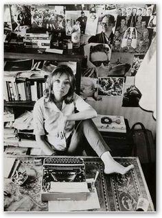 Italian writer Oriana Fallaci (1929 - 2006) always kept one foot on her desk…