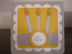 birthday card.....mini monograms and straight from the nest cricut cartridges