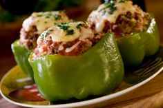 Simple Plate® | Meat Stuffed Bell Peppers Recipe