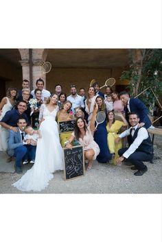 Foto di gruppo al matrimonio di Alessandra e Federico | Villa Corte [Dove Vuoi Catering - Villa Rota]