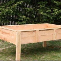 Diy Elevated Garden Bed On Legs   Landscaping Ideas : Landscape ... Raised  Vegetable ...