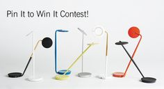 Pin It to Win It Contest! We're giving away Pixo Lamps to five lucky pinners. The Pixo LED Table Lamp is fully adjustable and has a built-in USB port for charging a phone or other device. For a chance to win one, enter your info, click submit, then pin your favorite Pixo to Pinterest. We'll draw five winners at random to receive a Pixo Lamp in a color of their choosing.