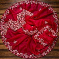 Half Saree Designs, Saree Blouse Designs, Organza Saree, Cotton Saree, Silk Sarees, Saree Floral, Wedding Saree Collection, Saree Designs Party Wear, Bridal Sari
