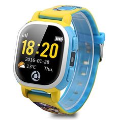 Tencent QQ Watch Kids GPS Wrist Watch Phone with Real-time GPS Tracking / SOS Emergency Call (Yellow)