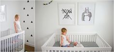 Black and white nursery. Photos by Jen Herem photography
