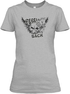 Rebel T Shirt Sport Grey Women's T-Shirt Front