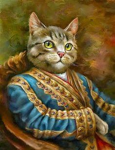 Les 821 meilleures images de Portraits habillés de chats et