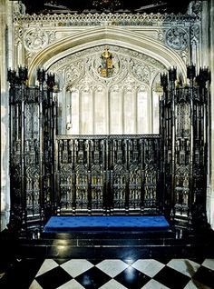 The tomb of King Edward IV in St George's Chapel Windsor