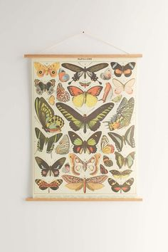 Hanging Butterfly Art Print - Urban Outfitters