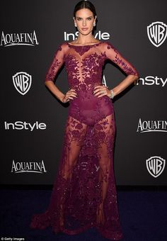 Brazilian beauty: Alessandra Ambrosio definitely turned heads at the gala as she donned a ...