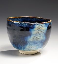 Kimura, Moriyasu, Kimura Moriyasu, universe, blue, tenmoku, glazed, teabowl, 2012, clay, ceramics, Japanese, Japan, Japanese ceramics, contemporary, traditional, pottery