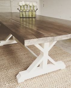 43 best farmhouse dining table styles images custom wood furniture rh pinterest com kitchen table styles 2019 kitchen table styles 2019