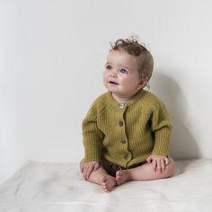 Phil&Phae Cashmere blend knit cardigan, avocado on Birches & Wool Baby Cardigan, Knit Cardigan, Hard Wear, How To Wear, Birches, Merino Wool, Wool Blend, Children, Kids