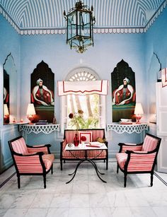 Read this exciting story from Architectural Digest April Marie-Anne Oudejans is Jaipur's newly minted tastemaker —and her hotel apartment is one deliriously lovely reason why. Architectural Digest, Tent Room, Indian Interiors, Hotel Apartment, Interior Decorating, Interior Design, Indian Home Decor, White Decor, Decoration