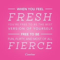 Carefree liners are not an option they are a necessity Because #FreshIsFierce.  Tried and reviewed through the @influenster #freshisfierce campaign