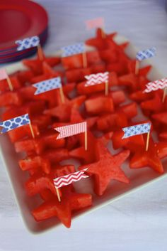 Watermelon Stars ~ 4th of July Party via Kara's Party Ideas