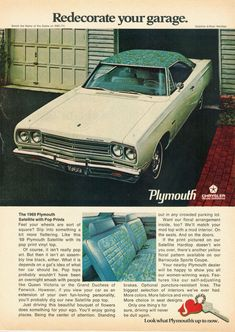 Directory Index: Plymouth Vintage Advertisements, Vintage Ads, Vintage Iron, Plymouth Muscle Cars, Plymouth Satellite, Car Brochure, Ford, Car Advertising, Top Cars