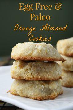 Paleo Vegan Orange Almond Cookies #EggFree