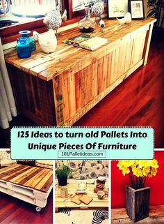 125 Awesome DIY Pallet Furniture Ideas | 101 Pallet Ideas - Part 7