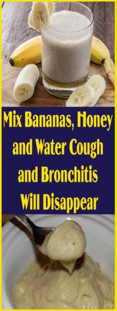 Mix Bananas, Honey and Water: Cough and Bronchitis Will Disappear – Sara Beauty and Health