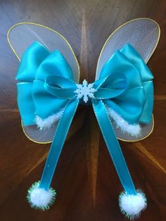 I was asked to make a Periwinkle bow, you know Tinkerbell's sister in the Secret…