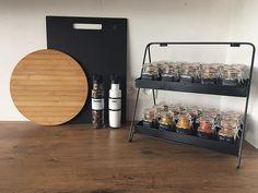 WEBSTA @ by_tita_ - • Home details • Een drukke avond voor de boeg maar eerst lekker koken! Mijn kruidenrekje kreeg een nieuwe plek. Wat gaan jullie eten? #interior123 #showhometop5 #kitcheninspo #kijkjeinmijnhuis #instawonen #kitchendesign #zwartwitwonen #stoerwonen #kruiden #Nicolasvahé @kruidvat.be @nicolas_vahe @puntje_op_de_i #purelifestyle Organization, Kitchen, Fun, Inspiration, Furniture, Design, Home Decor, Getting Organized, Biblical Inspiration
