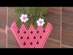 Baby Knitting Patterns, Crochet Girls Dress Pattern, Maquillaje Halloween, Easy Knitting, Crochet Flowers, Crochet Baby, Strawberry, Pink, Make It Yourself