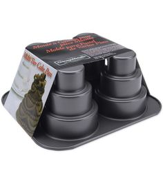 Tier Cake Pan...make individual mini three tier wedding cakes with them. How cute!