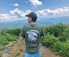 Hiked up to the beauty spot in Erwin, Tennessee wearing my new favorite shirt! Check it out below! Erwin Tennessee, Check It Out, No Worries, Hiking, Tees, Shirt, Mens Tops, How To Wear, Travel