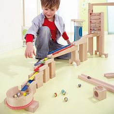 HABA Marble track - basic set of music Marble Tracks, Play Wood, Good Parenting, School Holidays, Wood Toys, Kids Rugs, Instruments, Educational Toys, Strollers