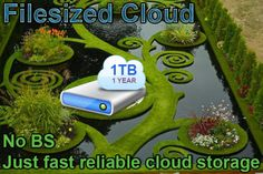 filesized: 1 year, 1 terabyte of cloud storage for $5, on fiverr.com