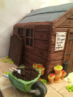 Shed cake by Elaine - Ginger Cat Cakery