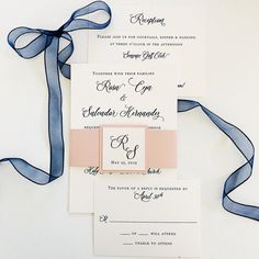 Elegant invitation decorated with a pink belly band.  Picture By: Van Tran email: vanvtran2020@gmail.com