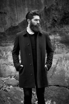 Chris John Millington - dark full thick beautiful beard and mustache beards bearded man men mens' style winter fashion model models dapper Chris John Millington, The Body Shop, Stylish Beards, Classic Mens Hairstyles, Men's Hairstyles, Style Hipster, Epic Beard, Long Beards, Beard Love