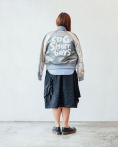 "20 curtidas, 1 comentários - COMME des GARÇONS PH (@commedesgarconsph) no Instagram: ""Comme des Garçons SHIRT's take on the souvenir jacket. SS17 collections now in One Rockwell.…"""