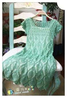 Pineapple Crochet Dress (with diagrams)